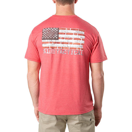 5.11 Bricks and Mortar Tee Red Heather