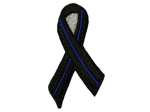 Thin-Blue-Line-Schleife-Patch