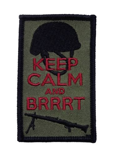 Keep calm and Brrrt Patch