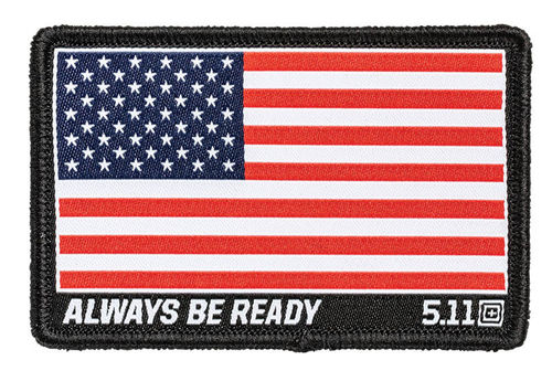 5.11 USA Flag Woven Patch Red