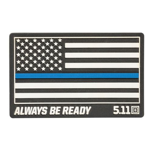 5.11 Thin Blue Line Rubber Patch Black
