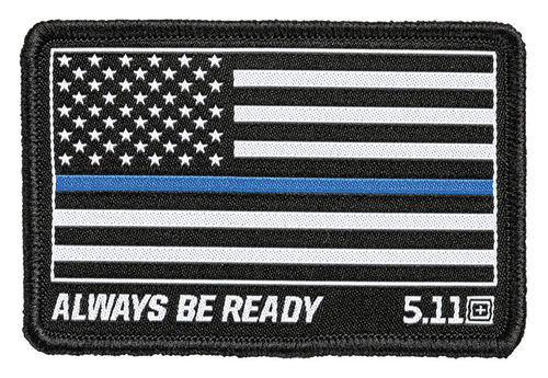 5.11 Thin Blue Line Woven Patch Black