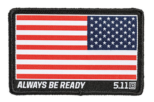 5.11 USA Flag Reverse Woven Patch Red