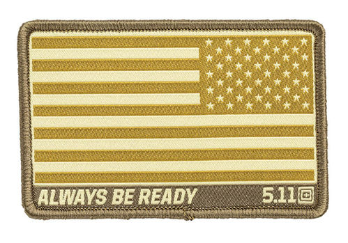 5.11 USA Flag Reverse Woven Patch Coyote
