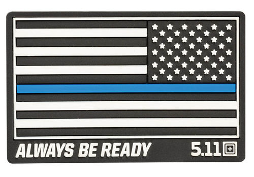 5.11 Thin Blue Line Reverse Rubber Patch Black