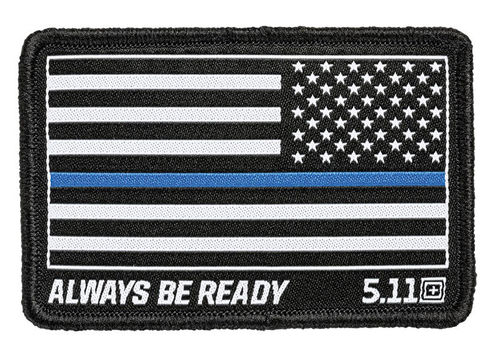 5.11 Thin Blue Line Reverse Woven Patch Black