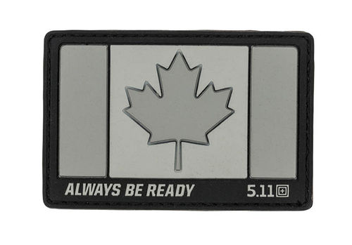 5.11 Canada Flag Patch Charcoal