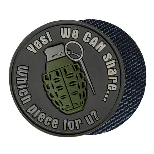 Helikon-Tex We Can Share Grenade Patch Grey